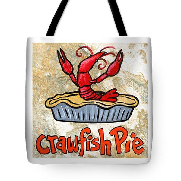Cajun Food Trio White Border Tote Bag by Elaine Hodges