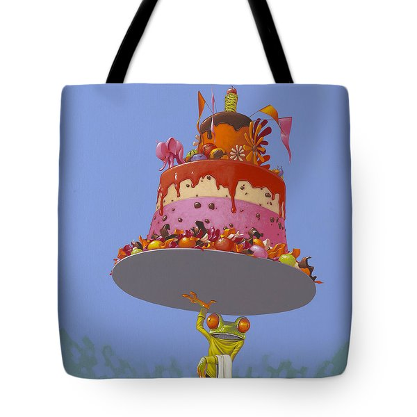 Cake Tote Bag by Jasper Oostland