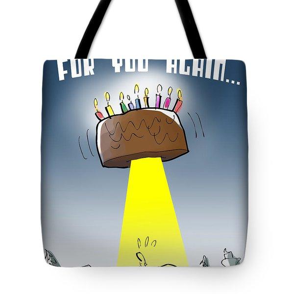 Cake Spaceship Tote Bag