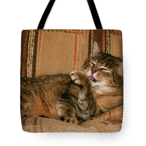 Tote Bag featuring the photograph Cal-5 by Ellen Lentsch