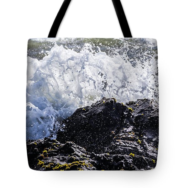 California Coast Wave Crash 4 Tote Bag