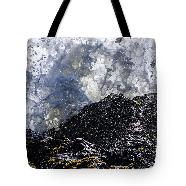 California Coast Wave Crash 5 Tote Bag