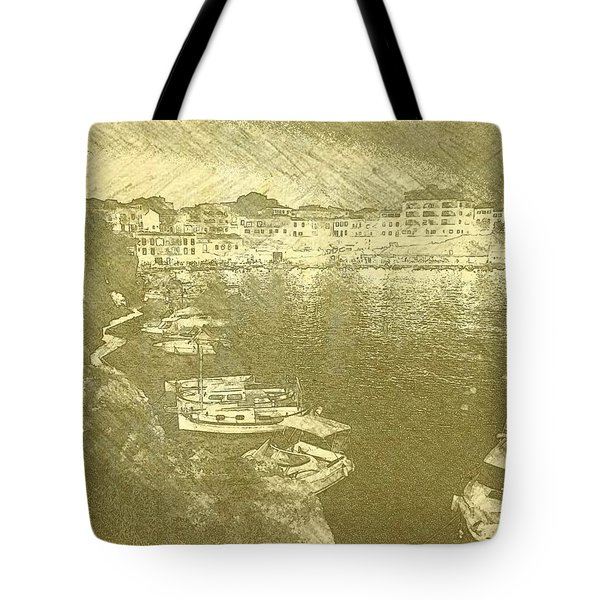 Cala Fonts At Night Tote Bag