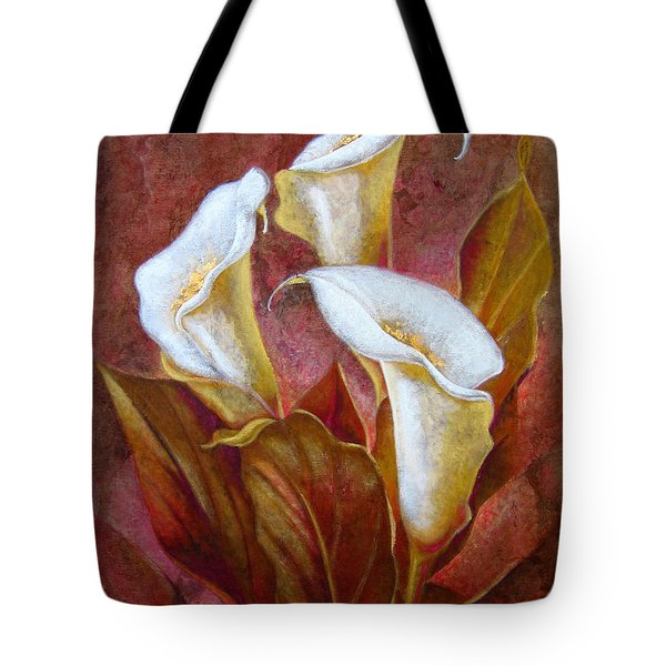 Cala Lillies Bouquet Tote Bag