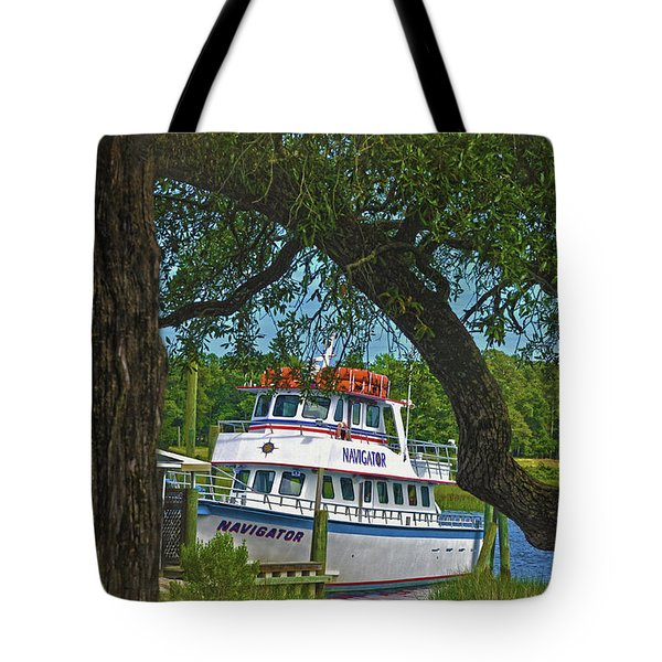 Calabash Deep Sea Fishing Boat Tote Bag