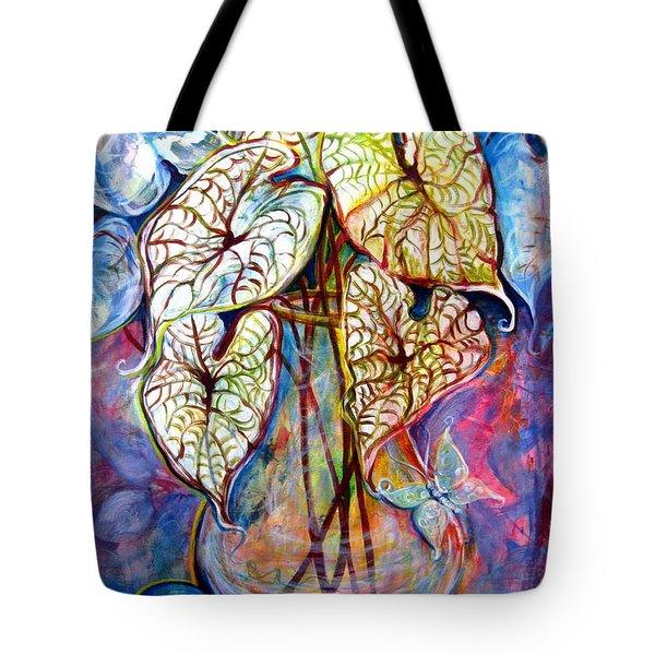 Caladium Glass Creation Tote Bag