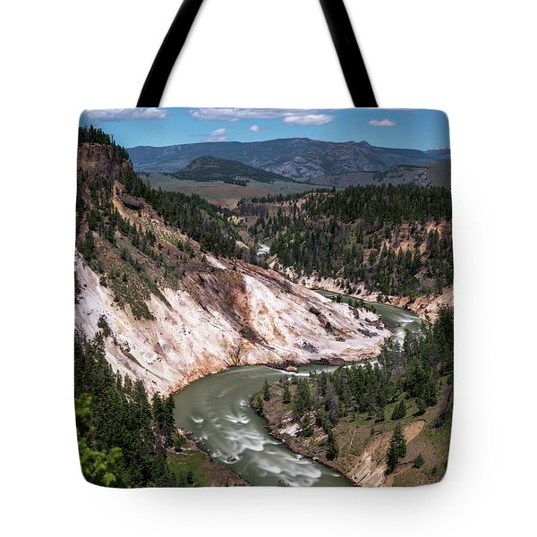 Tote Bag featuring the photograph Calcite Springs Overlook  by Vincent Bonafede