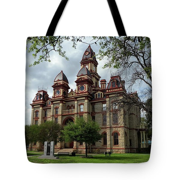 Tote Bag featuring the photograph Caldwell County Courthouse by Ricardo J Ruiz de Porras