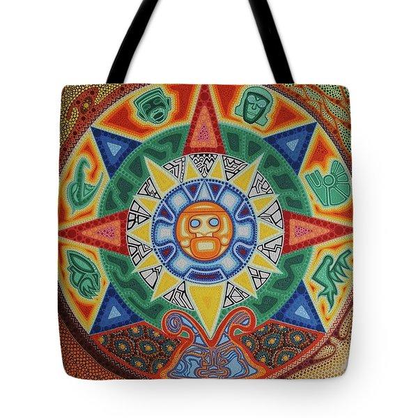 Calendario Azteca Tote Bag