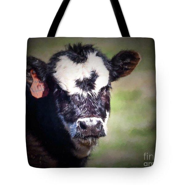 Calf Number 444 Tote Bag by Laurinda Bowling