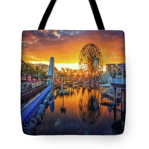 Calfornia Sunset Tote Bag