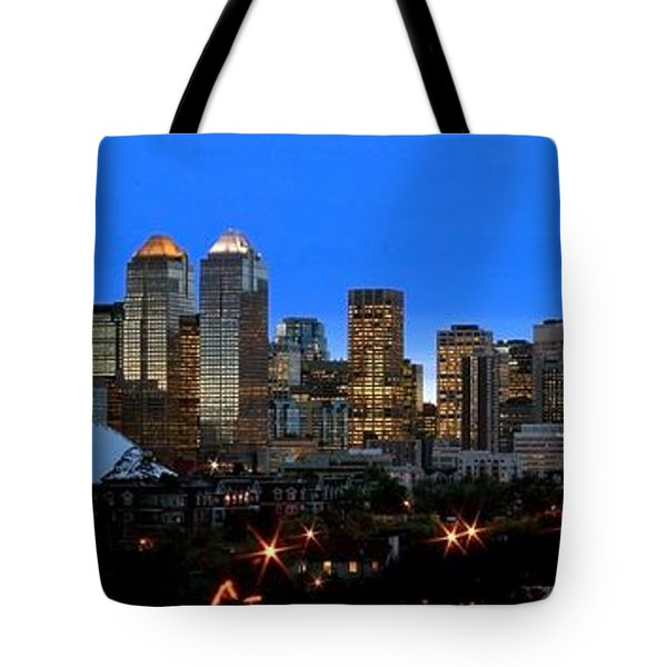 Calgarys Skyline Tote Bag by Richard Wear