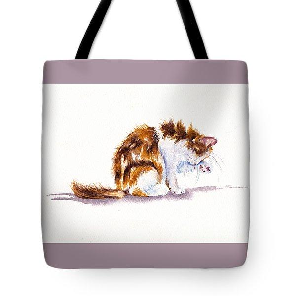 Calico Cat Washing Tote Bag