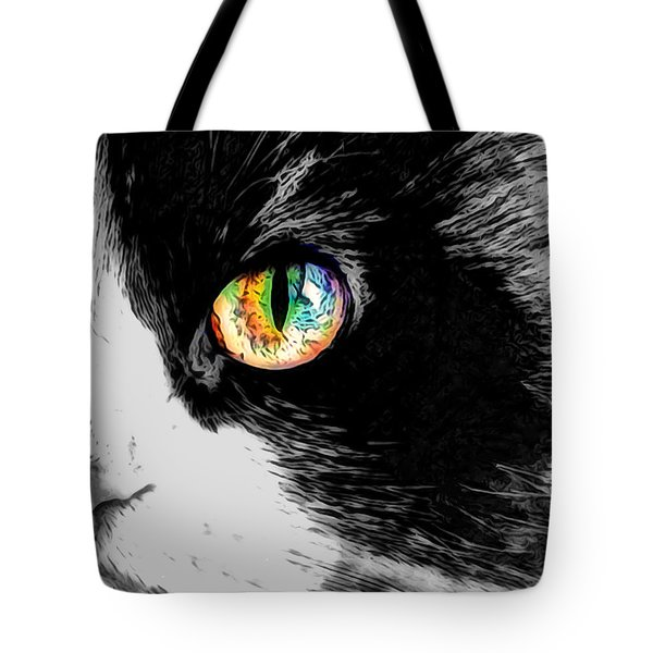 Calico Cat With A Splash Tote Bag