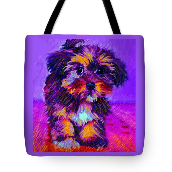 Calico Dog Tote Bag