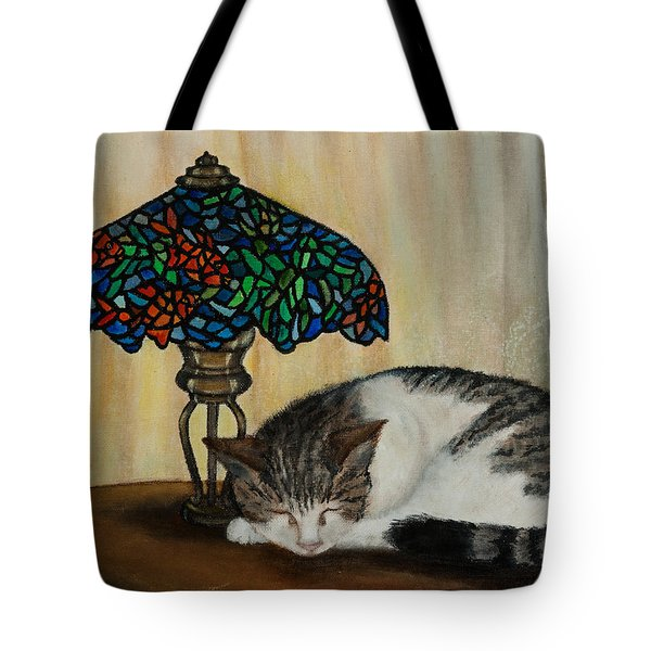 Tote Bag featuring the painting Calico by Elizabeth Mundaden