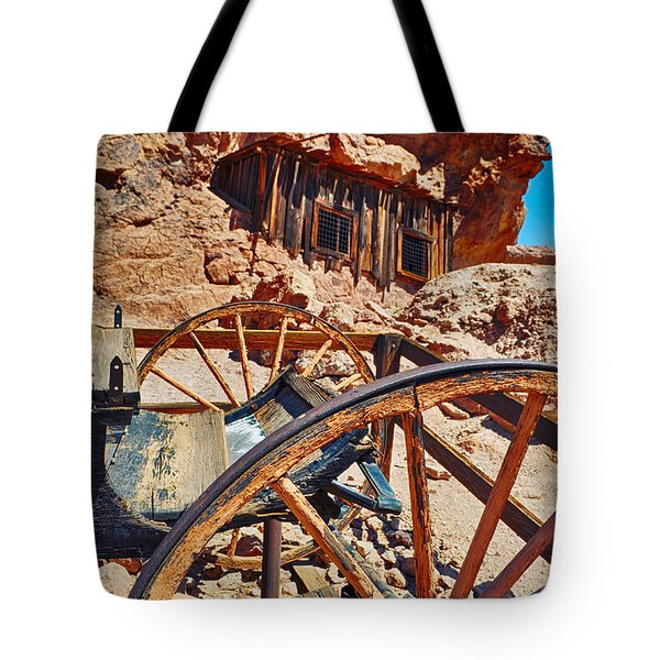 Tote Bag featuring the photograph Calico Ghost Town Mine by Kyle Hanson