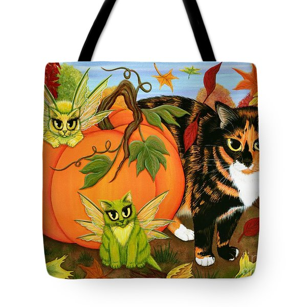 Calico's Mystical Pumpkin Tote Bag