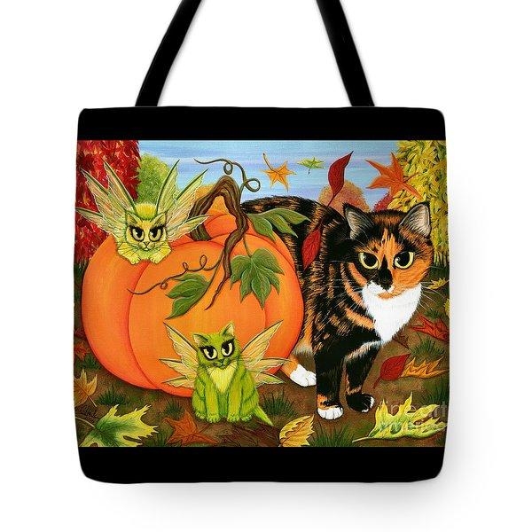 Calico's Mystical Pumpkin Tote Bag