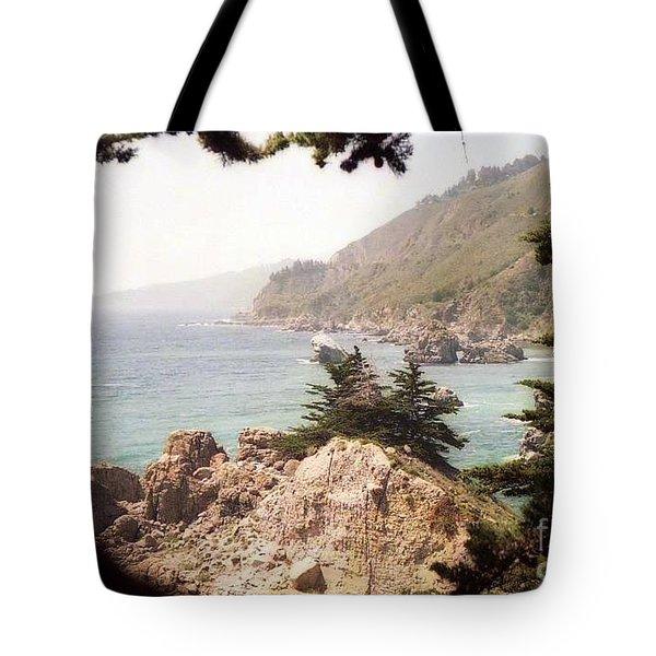 Calif Coast Drive Ocean View Tote Bag