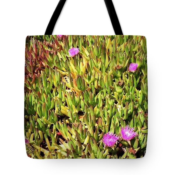 California Coast Ice Plant Tote Bag