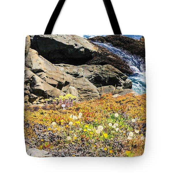 California Coastal Flora Tote Bag