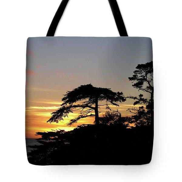 California Coastal Sunset Tote Bag