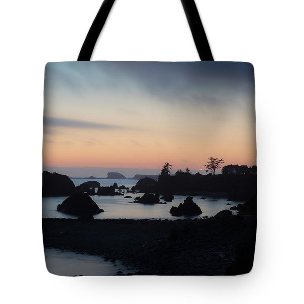 Tote Bag featuring the photograph California Coastal Sunset by Paul Schultz