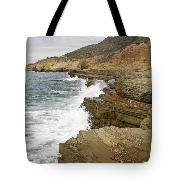 Tote Bag featuring the photograph California Colorful Coast by Carol  Bradley