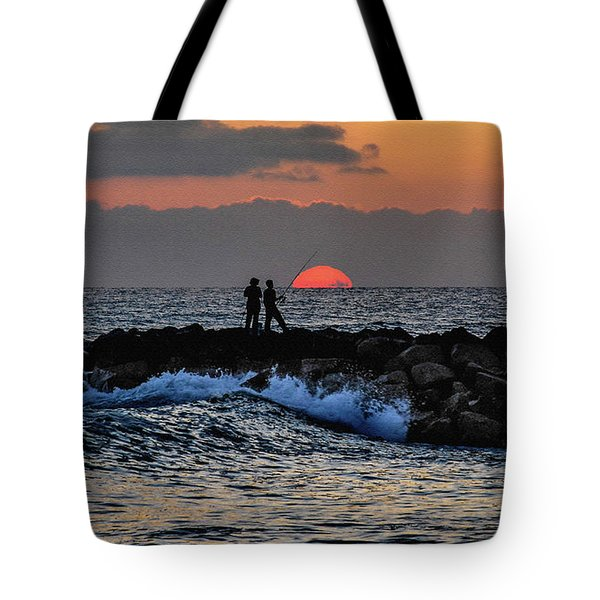 California Evening With Sandstone Effect Tote Bag