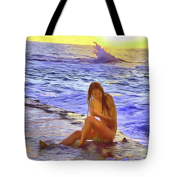 Tote Bag featuring the photograph California Girl California Beach by Viktor Savchenko