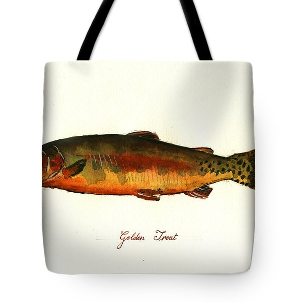 California Golden Trout Fish Tote Bag by Juan  Bosco