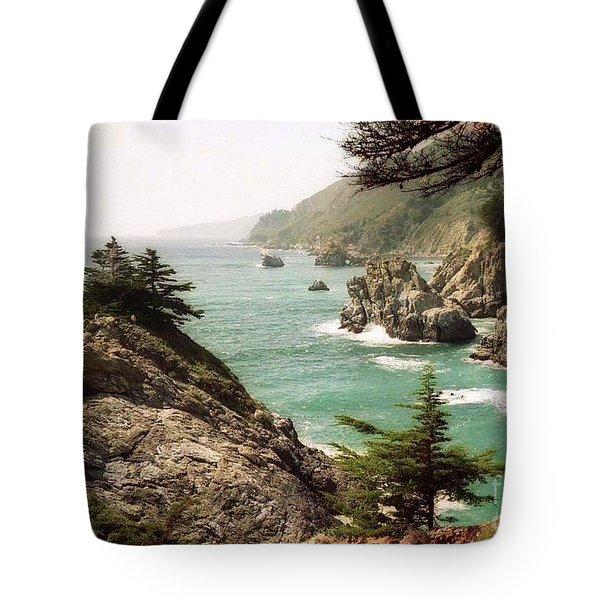 California Highway 1 Coast Tote Bag by Ted Pollard