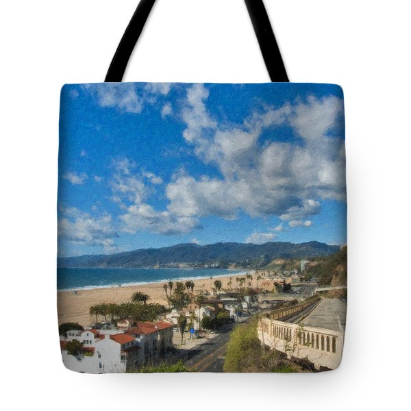 California Incline Palisades Park Ca Tote Bag