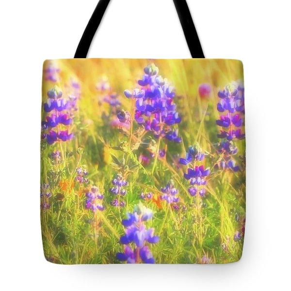 California Lupines Redux Tote Bag
