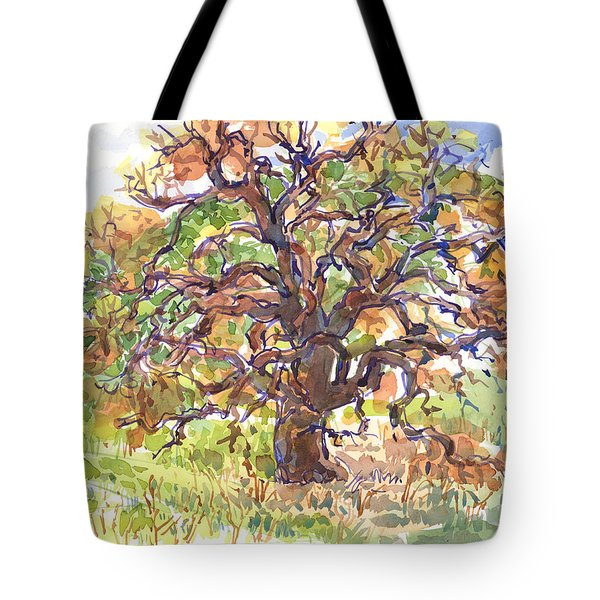 California Oak In Winter Tote Bag