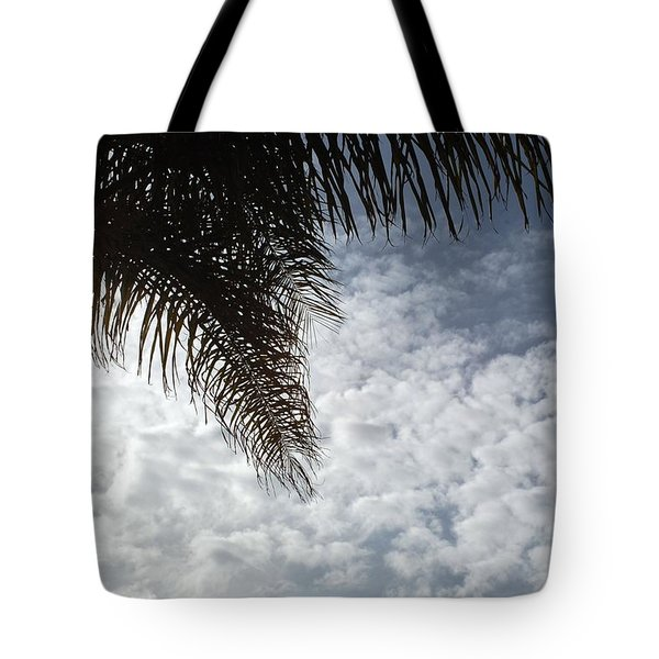 California Palm Tree Half View Tote Bag