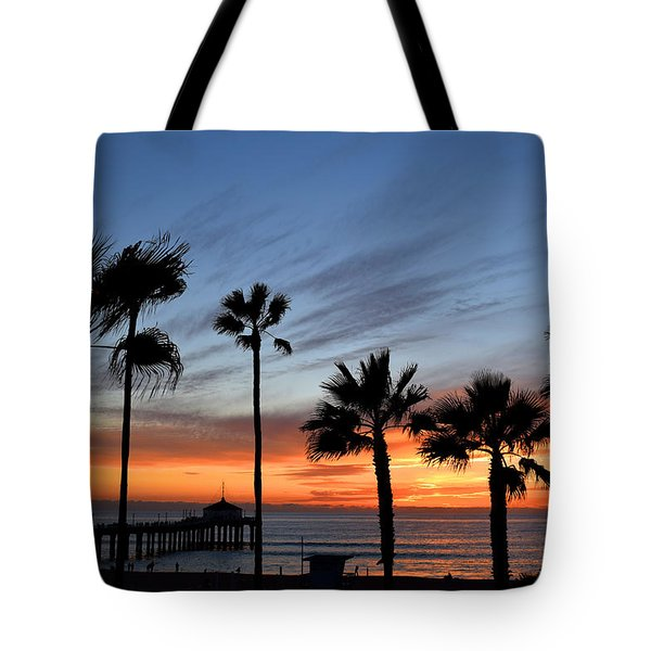 Manhattan Beach Sunset Tote Bag