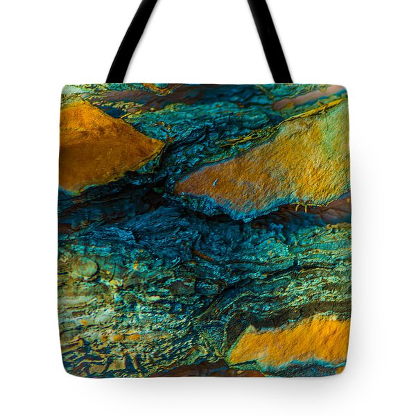 California Pine Bark Abstract Tote Bag