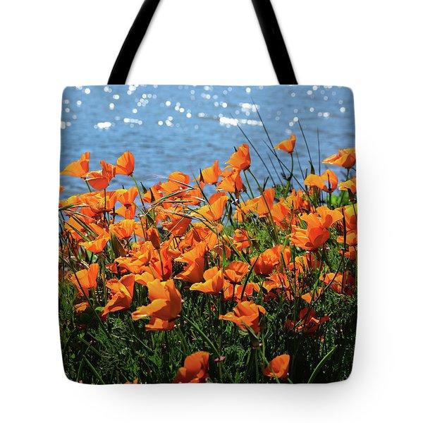 California Poppies By Richardson Bay Tote Bag