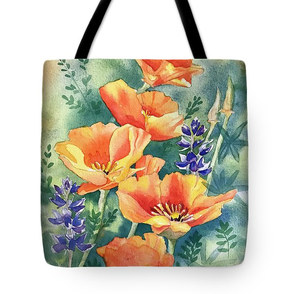 California Poppies In Bloom Tote Bag