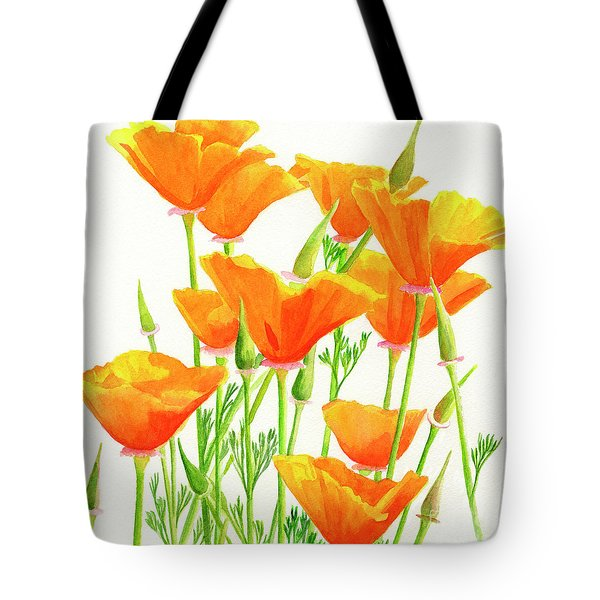 California Poppies Square Design Tote Bag