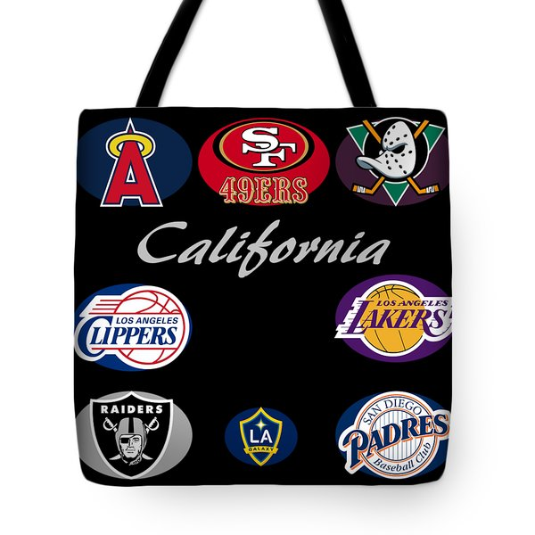 California Professional Sport Teams Collage  Tote Bag