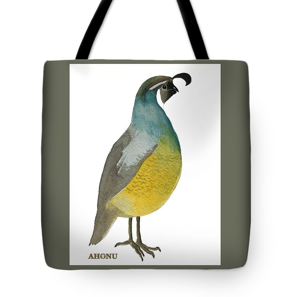California Quail Posing Tote Bag