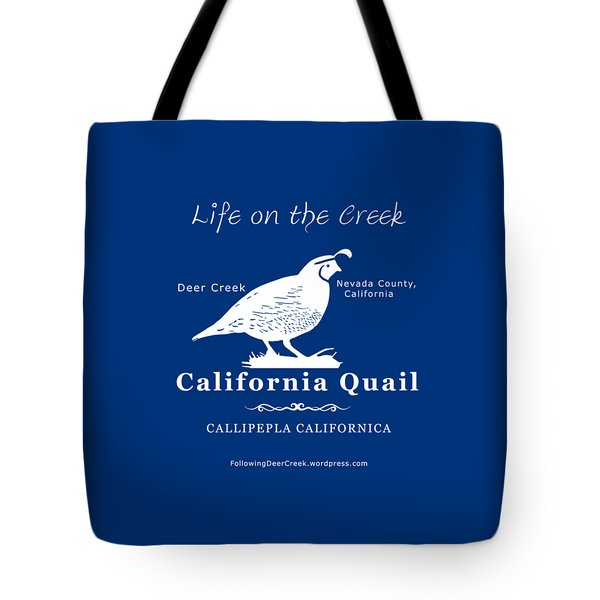 California Quail - White Graphics Tote Bag