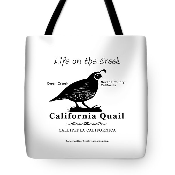 California Quail - White Tote Bag