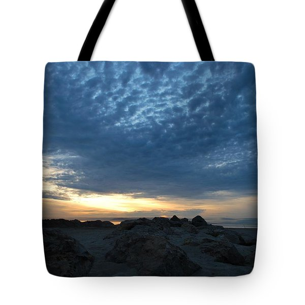 California Rocky Beach Sunset  Tote Bag