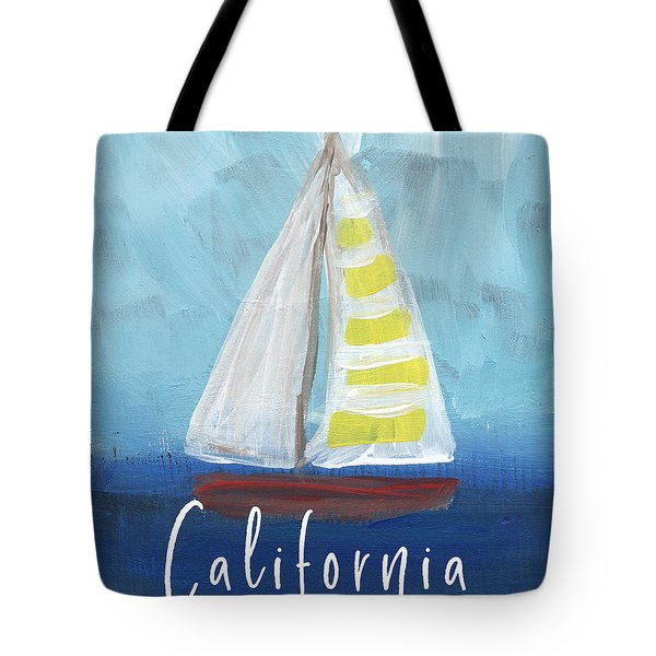 California Sailing- Art By Linda Woods Tote Bag