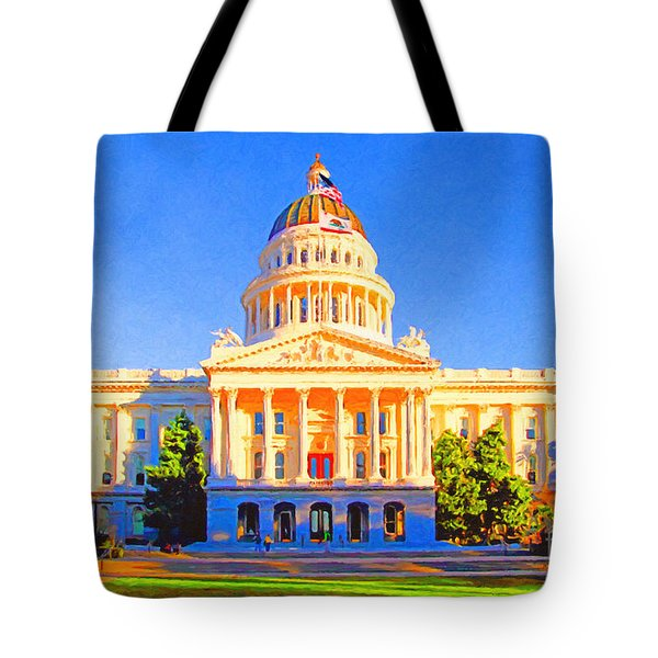 California State Capitol . Painterly Tote Bag