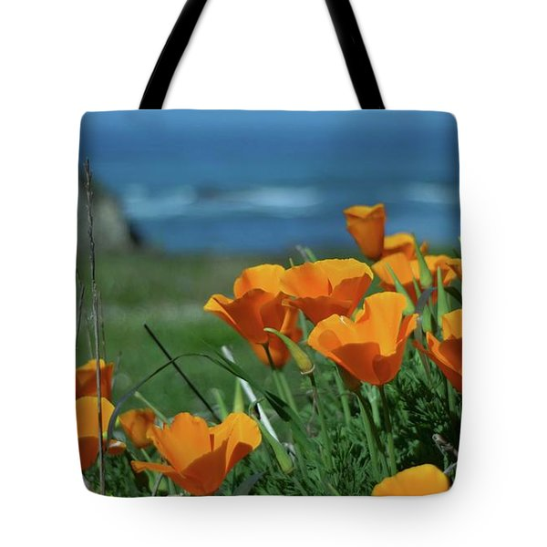 California State Flower - The Poppy Tote Bag